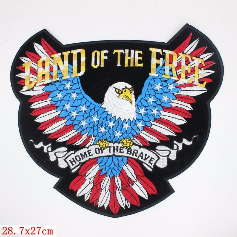 American Flag Eagle Patch The Metal Music Stop